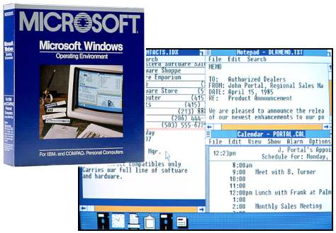 The first microsoft windows for 1st window